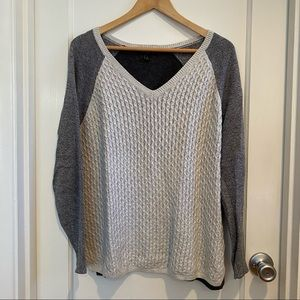 Banana Republic Three Color Cable Knit Sweater